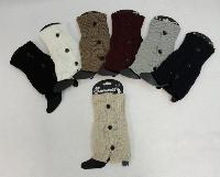 Knitted Boot Cuffs [3 Buttons]
